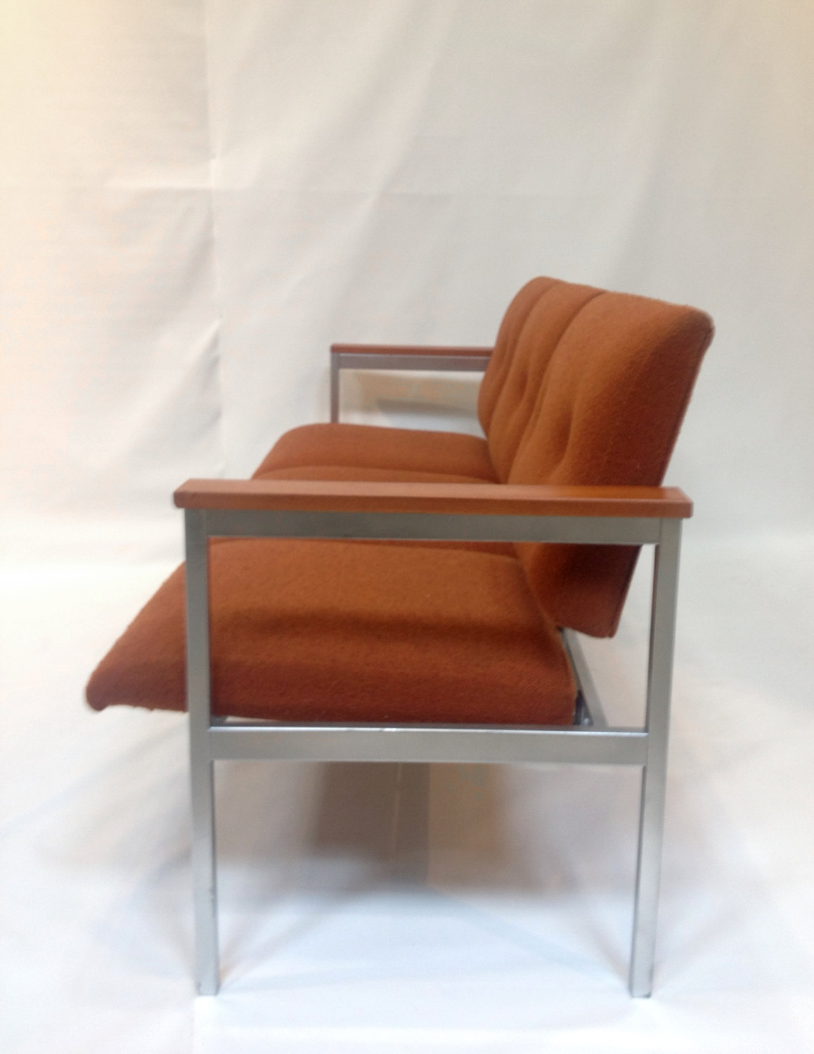 SOLD-Mid-Century Modern Waiting Room Couch