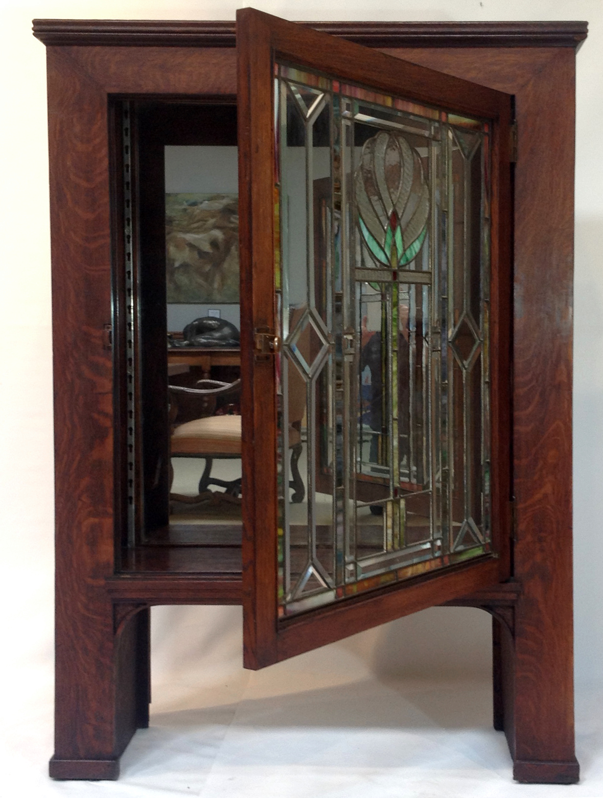 glass cupboard by doors cabinets art stained kitchen ann